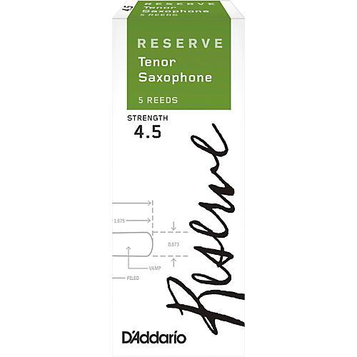 D'Addario Woodwinds Reserve Tenor Saxophone Reeds 5-Pack Strength 4.5