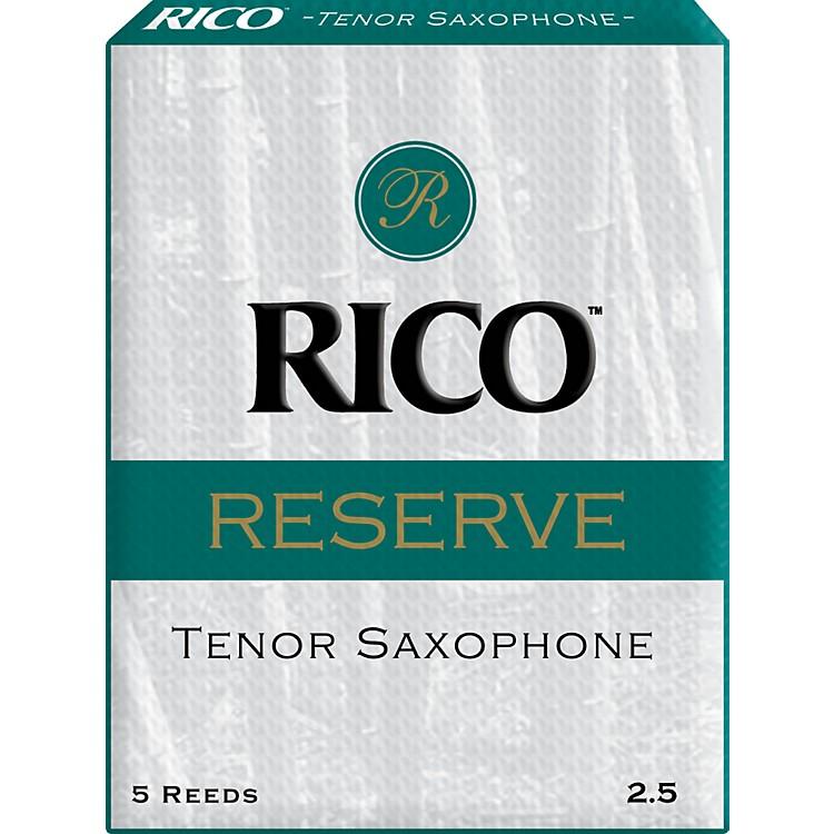 RicoReserve Tenor Saxophone ReedsStrength 2.5 Box of 5