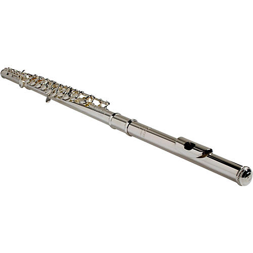 BURKART Resona 300 Flute with Sterling Silver Body and Headjoint with 9K Gold Lip Plate Offset-G, C# Trill