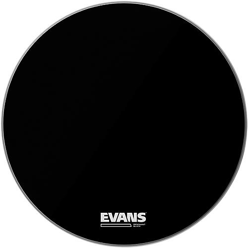 Evans Resonant Black Bass Drumhead  22 in.