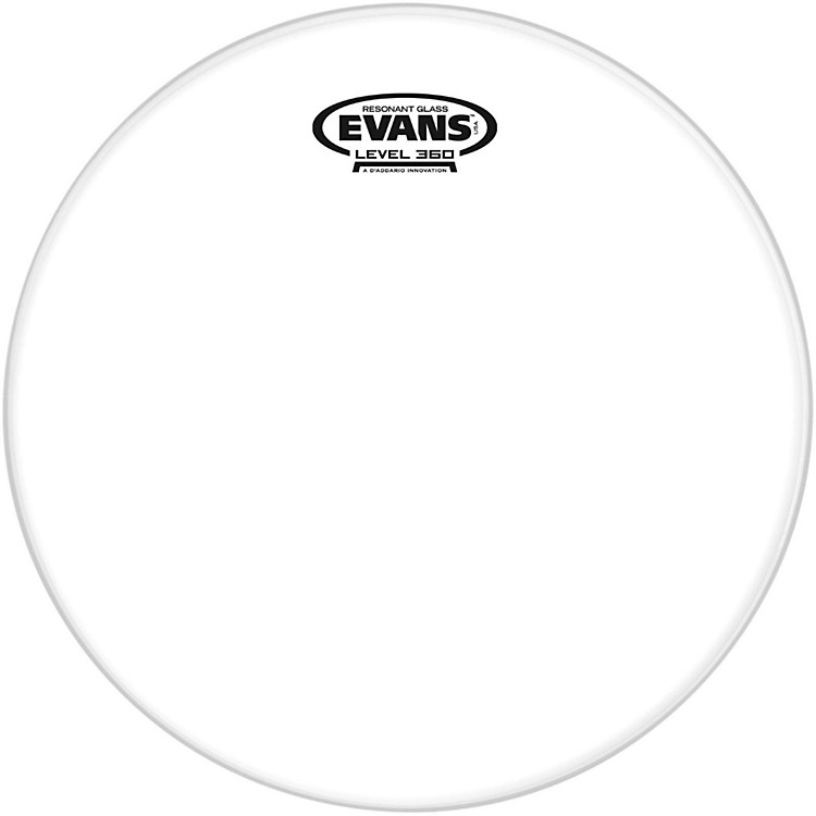 Evans Resonant Glass Tom Heads  12 inches