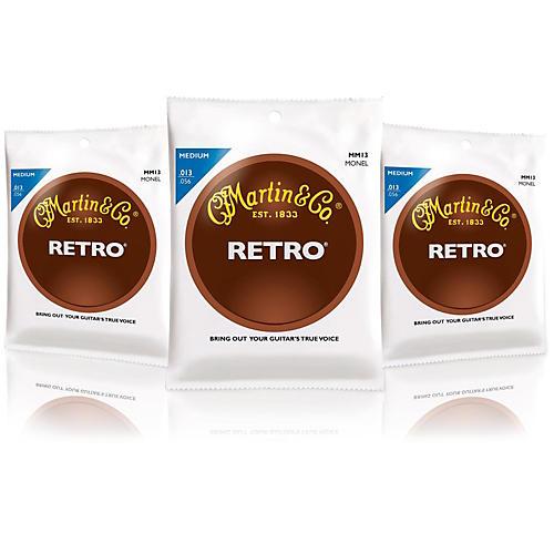 Martin Retro Acoustic Guitar Strings Medium Gauge 3-Pack-thumbnail