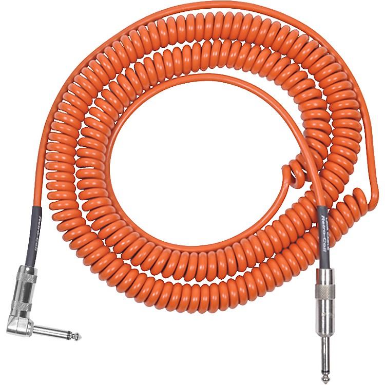LavaRetro Coil 20 Foot Instrument Cable Straight to Right AngleOrange