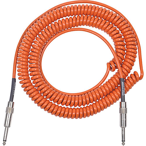 Lava Retro Coil 20 Foot Instrument Cable Straight to Straight Assorted Colors Orange