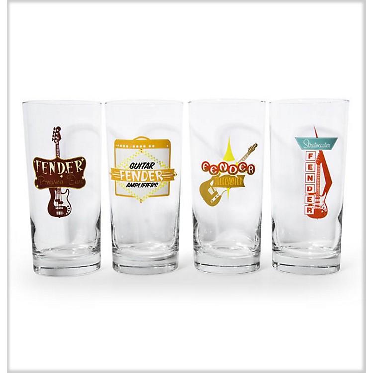 FenderRetro Pub Glasses (Set of 4)