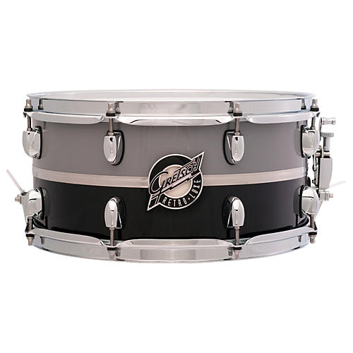 Gretsch Drums Retroluxe Snare Drum Pewter/Black 6.5 x 14