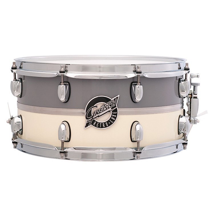 Gretsch Drums Retroluxe Snare Drum Pewter/White 6.5 x 14