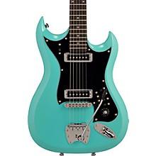Hagstrom Retroscape Series H-II Electric Guitar Aged Sky Blue