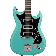 Hagstrom Retroscape Series H-III Electric Guitar Aged Sky Blue