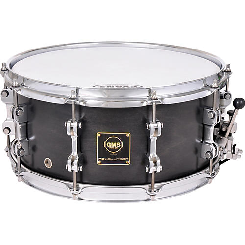 GMS Revolution Maple/Brass Snare Drum 6.5 x 14 Ebony