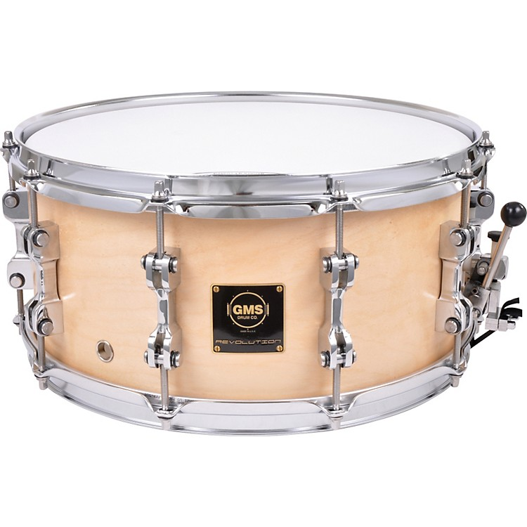 GMS Revolution Maple/Brass Snare Drum 6.5X14 Natural Maple