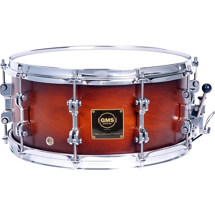 GMS Revolution Maple/Brass Snare Drum 7X13 Ebony