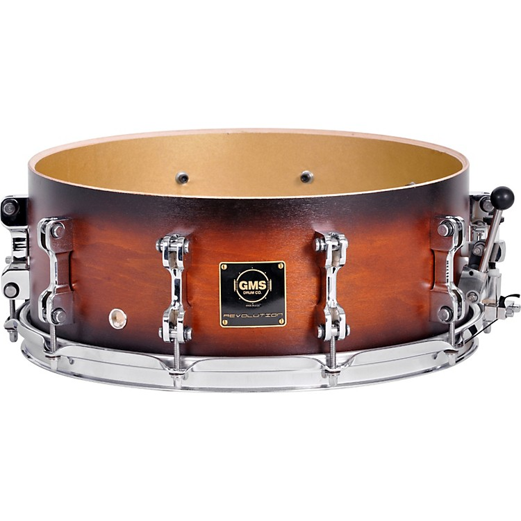 GMS Revolution Maple/Brass Snare Drum 7X13 Natural Maple