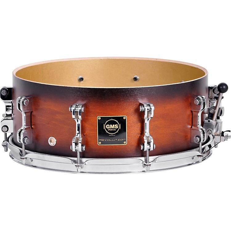 GMSRevolution Maple/Brass Snare Drum7X13Ebony