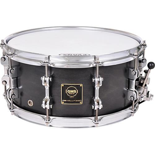 GMS Revolution Maple/Steel Snare Drum 14 x 5.5 Midnight Black