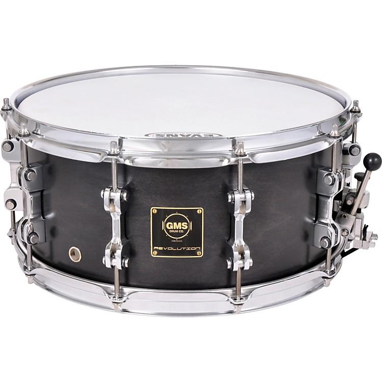 GMSRevolution Maple/Steel Snare Drum5.5X14Midnight Black