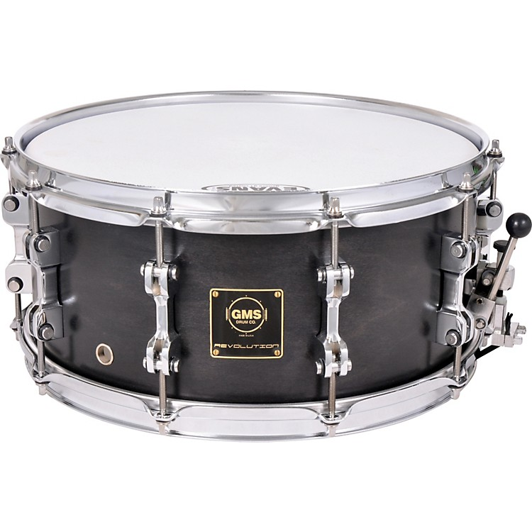 GMS Revolution Maple/Steel Snare Drum 6.5X14 Midnight Black
