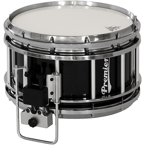Premier Revolution Series Indoor Marching Snare Drum 14x7 Inch Ebony Black Lacquer
