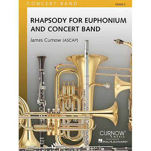 Hal Leonard Rhapsody For Euphonium And Concert Band Score Concert Band-thumbnail