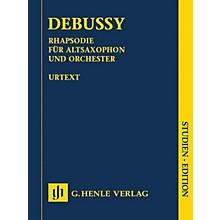 G. Henle Verlag Rhapsody for Alto Saxophone and Orchestra Henle Study Scores by Debussy Edited by Ernst-Günter Heinemann