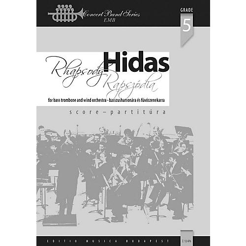 Editio Musica Budapest Rhapsody for Bass Trombone and Wind Band Concert Band Composed by Frigyes Hidas-thumbnail