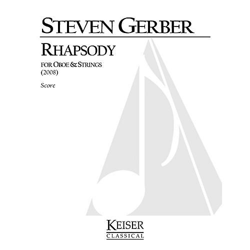 Lauren Keiser Music Publishing Rhapsody for Oboe and Strings LKM Music Series by Steven Gerber-thumbnail
