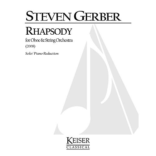 Lauren Keiser Music Publishing Rhapsody for Oboe and Strings (Oboe and Piano Reduction) LKM Music Series by Steven Gerber-thumbnail