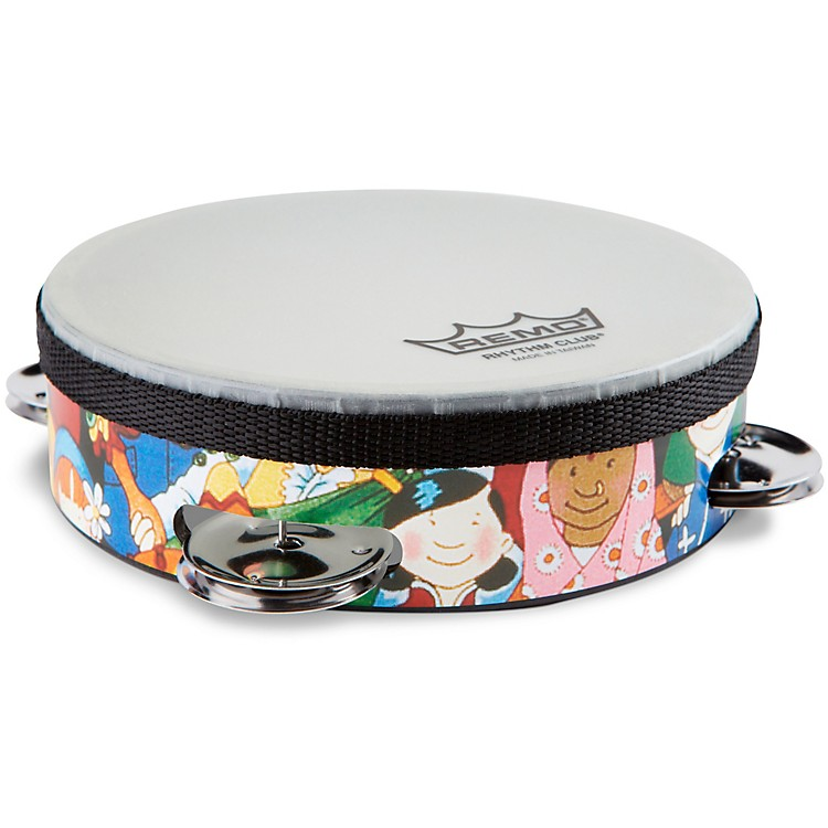 Remo Rhythm Club Tambourine with 4 Sets of Jingles  6 Inches