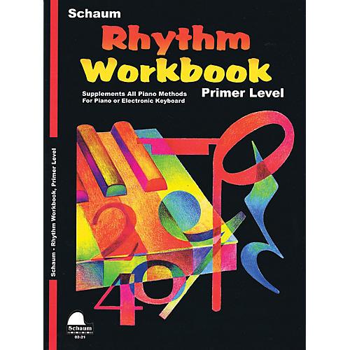 SCHAUM Rhythm Workbook (Primer) Educational Piano Book by Wesley Schaum (Level Elem)-thumbnail