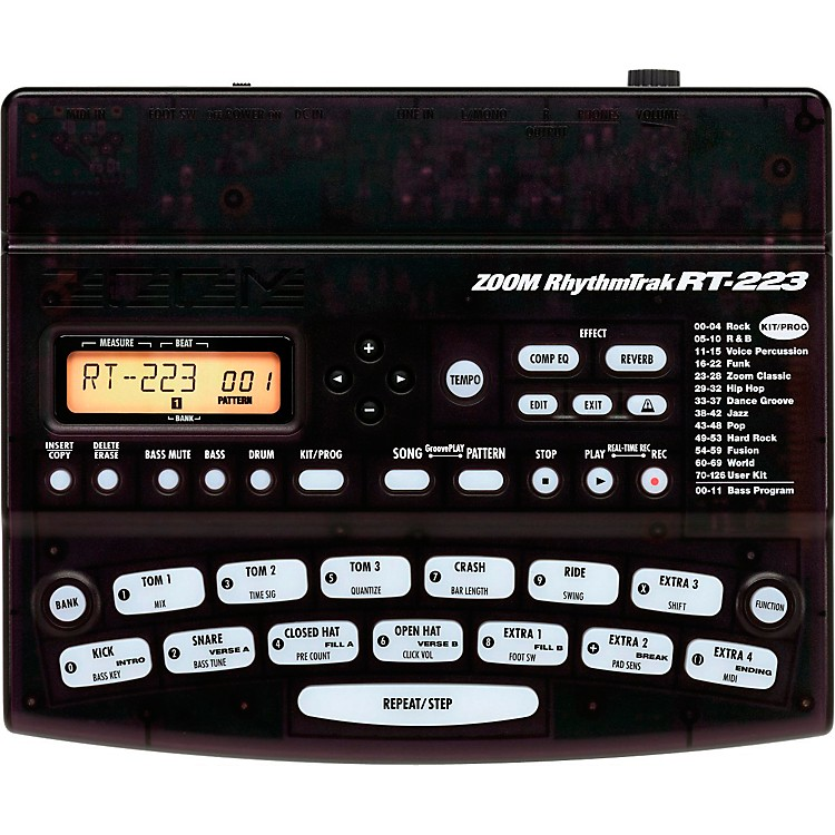 Zoom RhythmTrak RT- 223 Drum Machine