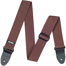 Dunlop Ribbed Cotton Guitar Strap Chocolate