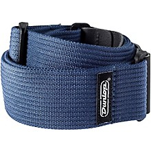 Dunlop Ribbed Cotton Guitar Strap Navy Blue