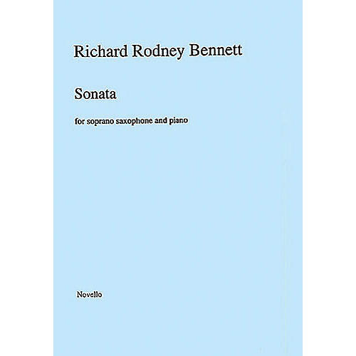 Music Sales Richard Rodney Bennett: Sonata for Soprano Saxophone and Piano Music Sales America Series-thumbnail