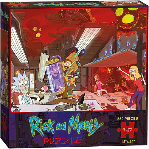 USAOPOLY Rick and Morty Puzzle-thumbnail