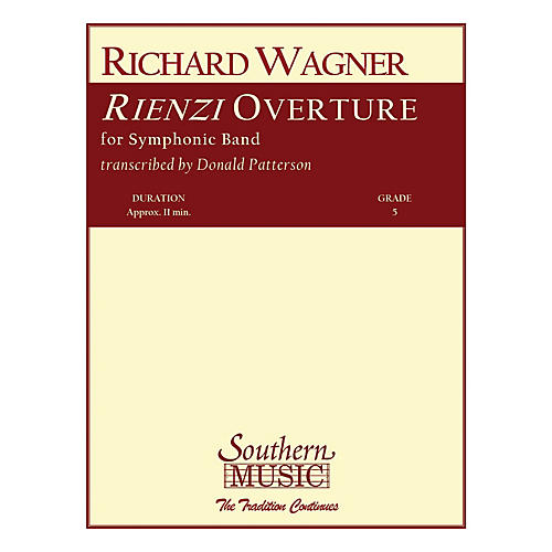 Southern Rienzi Overture (Band/Concert Band Music) Concert Band Level 5 Arranged by Don Patterson-thumbnail