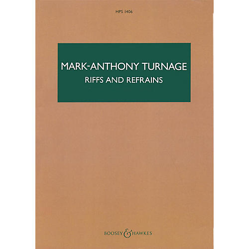 Boosey and Hawkes Riffs and Refrains Boosey & Hawkes Scores/Books Series Composed by Mark-Anthony Turnage-thumbnail