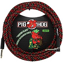 Pig Hog Right Angle Instrument Cable 20 ft. Tartan Plaid