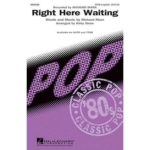 Hal Leonard Right Here Waiting TTBB A Cappella by Richard Marx Arranged by Kirby Shaw-thumbnail
