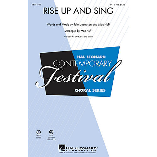Hal Leonard Rise Up and Sing 2-Part Composed by Mac Huff