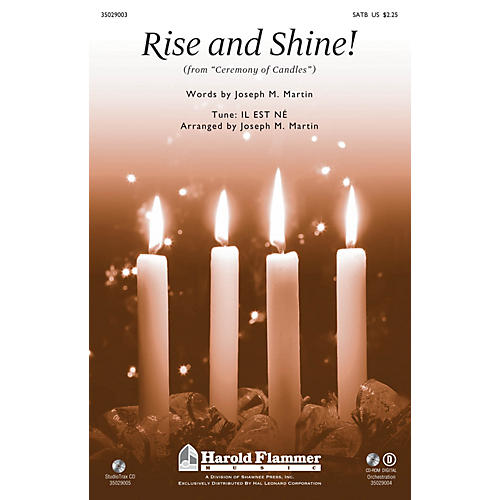 Shawnee Press Rise and Shine! (from Ceremony of Candles) Studiotrax CD Arranged by Joseph M. Martin