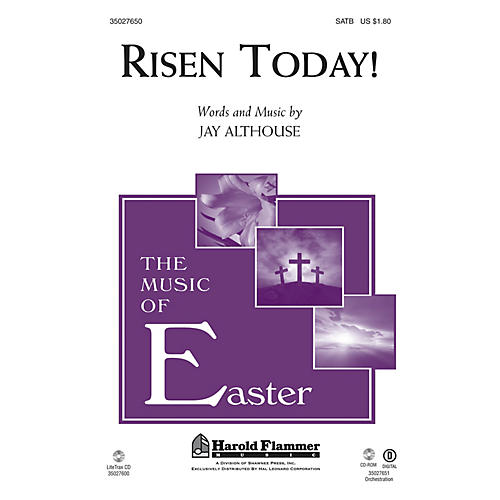 Shawnee Press Risen Today! SATB composed by Jay Althouse