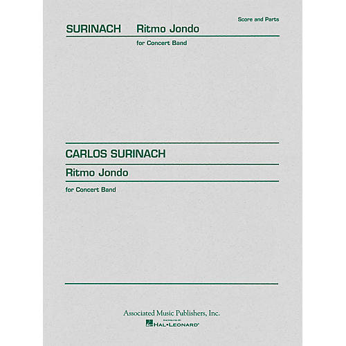 Associated Ritmo Jondo (Score and Parts) Concert Band Level 4-5 Composed by Carlos Surinach-thumbnail