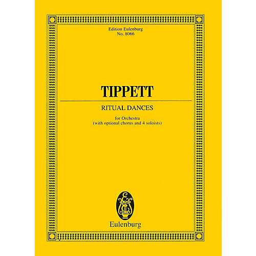 Eulenburg Ritual Dances for Orchestra (Study Score) Study Score Series Composed by Michael Tippett-thumbnail