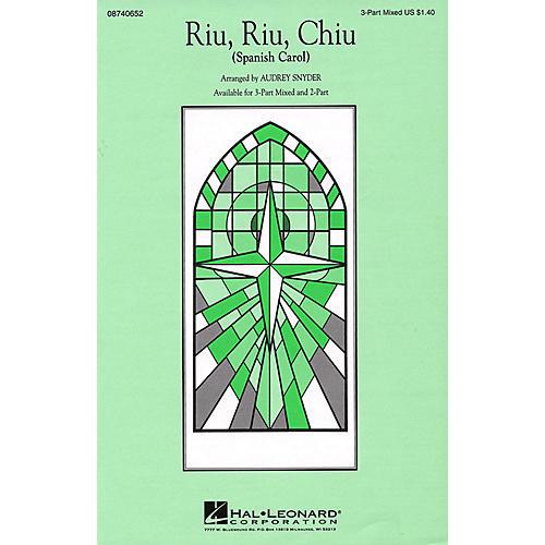 Hal Leonard Riu, Riu, Chiu 3-Part Mixed arranged by Audrey Snyder