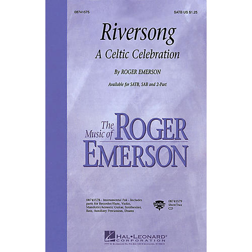 Hal Leonard Riversong (A Celtic Celebration) SATB composed by Roger Emerson-thumbnail