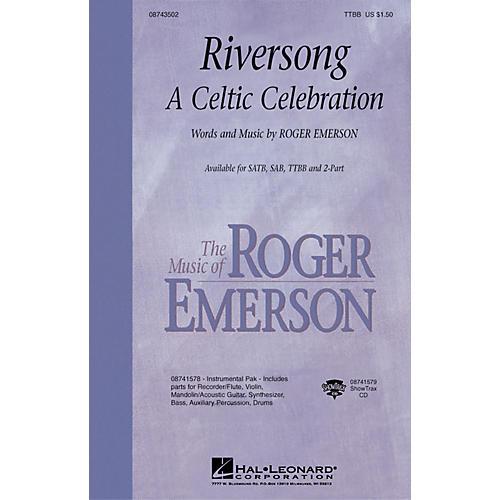 Hal Leonard Riversong (A Celtic Celebration) TTBB composed by Roger Emerson