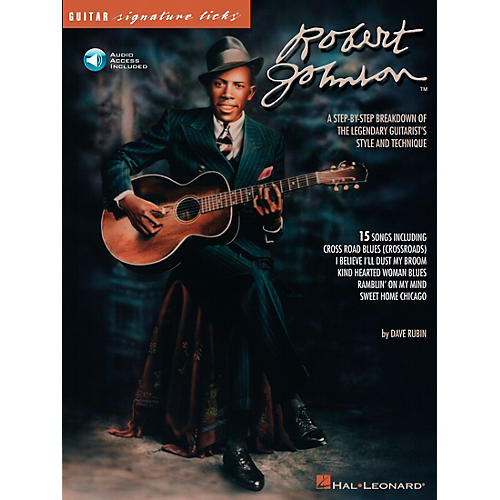Hal Leonard Robert Johnson Guitar Signature Licks Book with CD