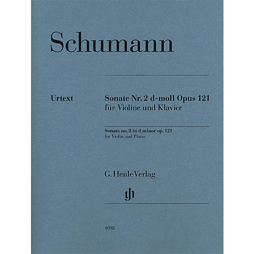 G. Henle Verlag Robert Schumann - Violin Sonata No. 2 in D minor, Op. 121 Henle Music Folios Softcover by Robert Schumann-thumbnail