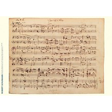 Axe Heaven Robert Schumann Music Manuscript Poster - Forest Scenes, Op. 82