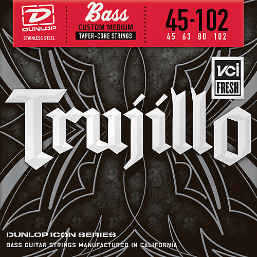 Dunlop Robert Trujillo Icon Series Bass Guitar Strings - 4 String Set